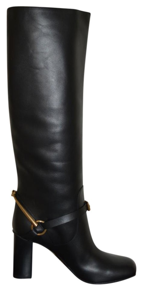 f7c8c3dbd Gucci Black Horsebit Leather Knee High Lifford Eu 38 Boots/Booties ...