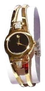 Movado Brand New Amorosa Ladies Diamond Watch. Gold-Tone Stainless Steel with Box!!!! 100% Guaranteed Authentic!!!