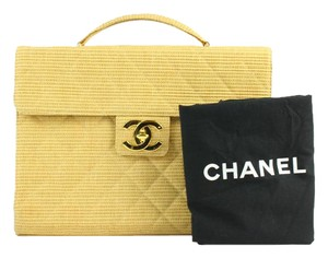 Chanel Kelly Briefcase Hemp Woven Classic Flap Laptop Bag