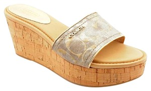 Coach Sandals Footwear SILVER/GOLD Wedges