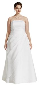 David's Bridal Satin Asymmetrical Skirt Plus Size Wedding Dress 9t8076 Wedding Dress