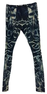 Alexander McQueen Navy & White Leggings