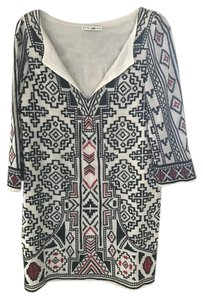 Alice + Olivia short dress White, Black and Red + Tribal Print Tunic Beach Cover Up on Tradesy