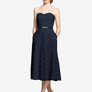 Navy Strapless Navy Bridesmaid Dress By Gather And Gown Dress