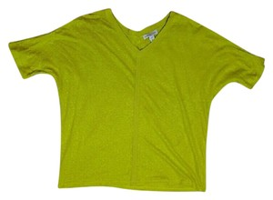 Coldwater Creek V-neck Casual Top Yellow Green