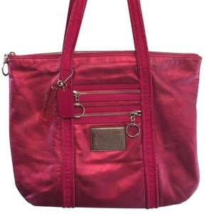 Coach Tote in Red/Rose