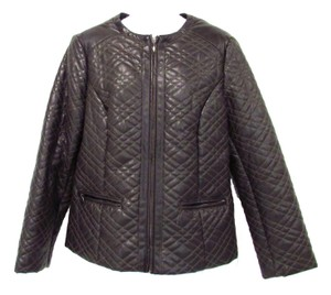 Chico's Dark Quilted Gray Jacket