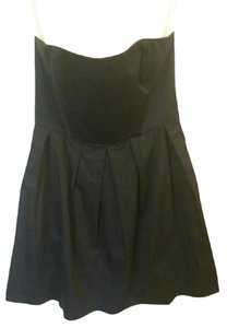 Elorie short dress Black Strapless Fit & on Tradesy