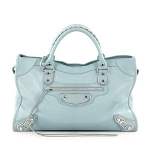 Balenciaga Leather Satchel in Blue