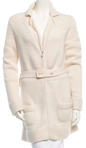 Chanel Creme Cashmere Cardigan Coat Sweater