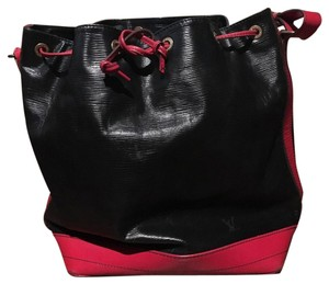Louis Vuitton Tote in Black Epi Leather with Red Smooth Leather