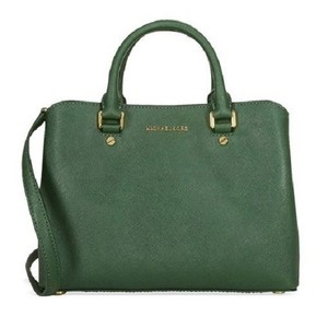 Michael Kors 30s6gs7s2l Savannah Md Savannah Satchel in Moss Green