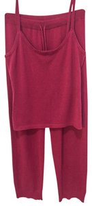 The Pajamagram Company The Pajamagram Company Cashmere and Silk Lounge Pajamas in Cranberry