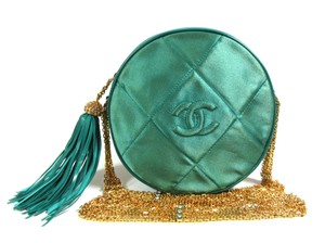 Chanel Evening Satin Tassel Shoulder Bag