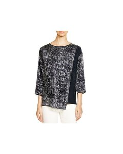 Lafayette 148 New York Top Ink/Navy