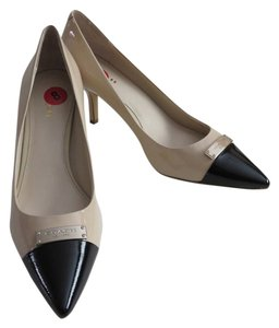 Coach Patent Leather Beige Heels Size 8 Beige, Black Pumps