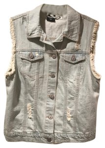 BDG Denim Distressed Vest