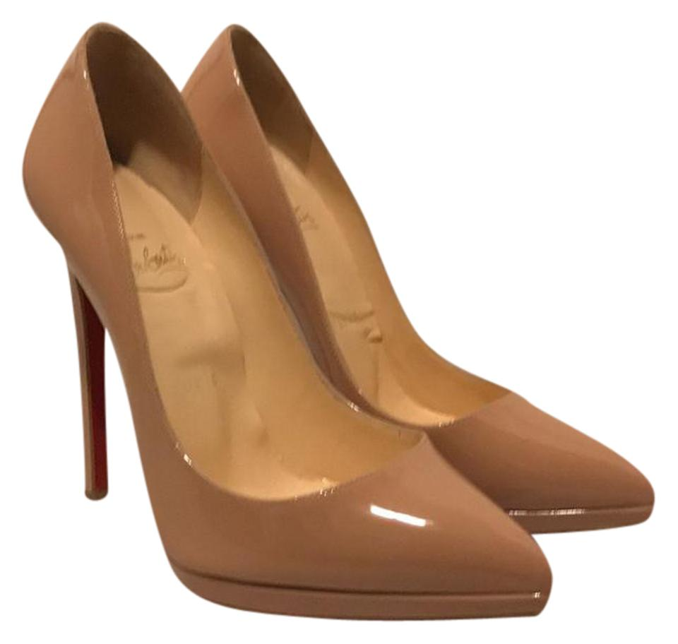 best service bb4d4 b8aa9 Christian Louboutin Nude Pigalle Plato 140 Patent Pumps Size US 6.5 Regular  (M, B) 49% off retail