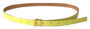 J.Crew Lime Green Patent Leather Skinny Belt
