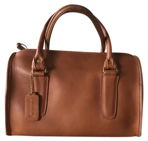 Coach Satchel Leather Tote in Brown