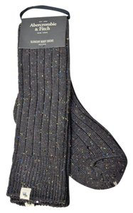 Abercrombie & Fitch Rib Knit Marled Slouchy Boot Socks