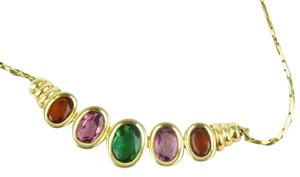 H. Stern 18K Yellow Gold Brazilian Gemstone Necklace