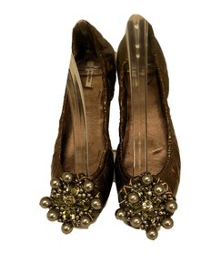 Miu Miu Ballet Metallic Brown Flats