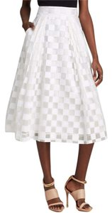MILLY Checkered Midi Cropped Set Dress