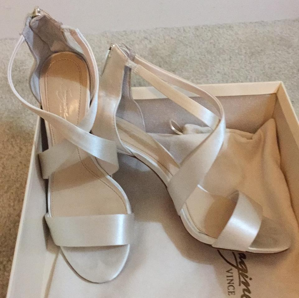 1cc357676b95 Imagine by Vince Camuto Ivory Satin Im-pascal Sandals Size US 6.5 Regular  (M ...