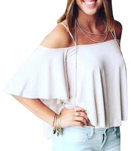 Free People Top taupe / tan