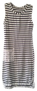 Rachel Roy short dress Navy and Off-White Striped Bodycon Knee-length Summer Spring on Tradesy