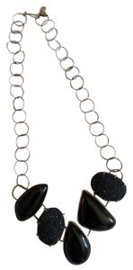 Lucky Brand onyx and glitter stone necklace