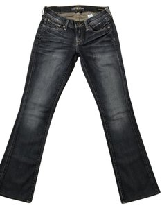Lucky Brand Lucky Zoe Distressed Boot Cut Jeans-Dark Rinse