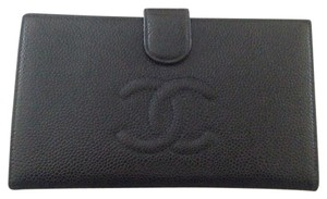 Chanel Chanel Caviar Bifold Wallet With Coin Pouch