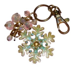 Juicy Couture NEW Juicy Couture Beautiful Snowflake Key Chain Purse Charm