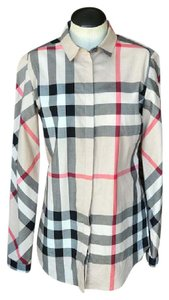 Burberry Check Button Down Button Down Shirt Multi-Color