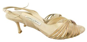 Jimmy Choo Suede Strappy Beige Sandals