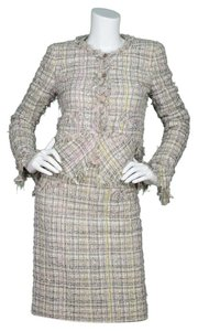 Chanel Chanel Grey & Pink 3-Piece Fantasy Tweed Suit sz FR 36/38/40