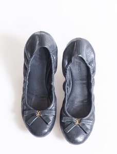 Louis Vuitton Lv Ballerina Marina Collection Color Perforated Leather Blue Flats