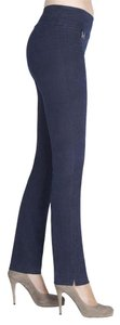 Lisette L Straight Pants Midnight blue
