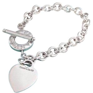Tiffany & Co. CLASSIC!!! Tiffany & Co. Heart and Toggle Bracelet Sterling Silver 7.75