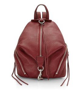 Rebecca Minkoff Leather Bordeaux Silver Julian New With Tags Backpack