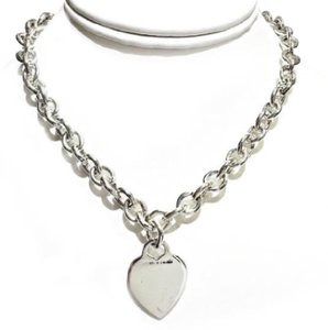 Tiffany & Co. CLASSIC!!! Tiffany & Co. Heart Tag Necklace Sterling Silver 15.5