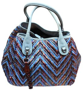 Desmo Satchel in Blue & Multicolor