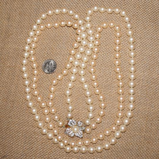 Carole Little Spectacular Vintage Estate NWOT CAROLEE Faux Pearl Double 2 Strand Necklace