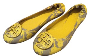 Tory Burch Yellow and Grey Flats
