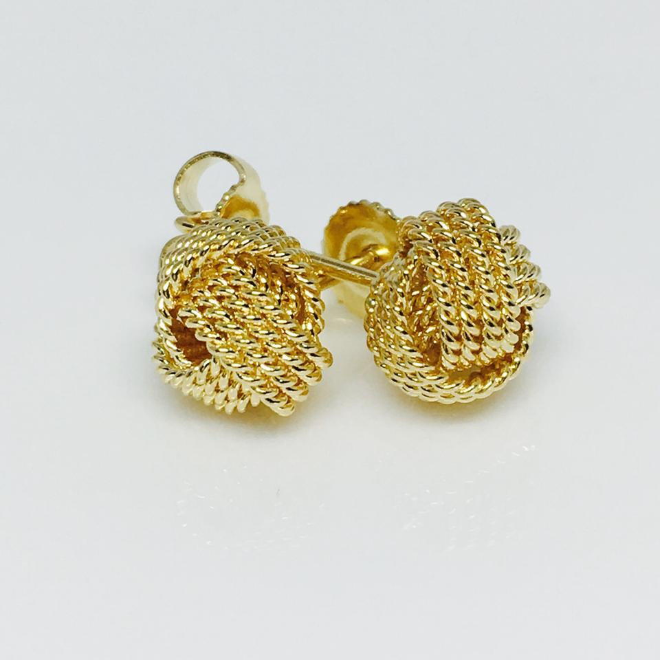 Twist Knot Earrings 18k Gold 1234567