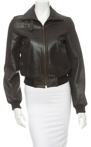 Céline Leather Aviator brown Leather Jacket