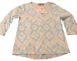 Chico's T Shirt aqua and pearl