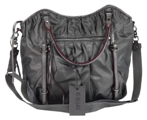 MZ Wallace Satchel in Charcoal Luster